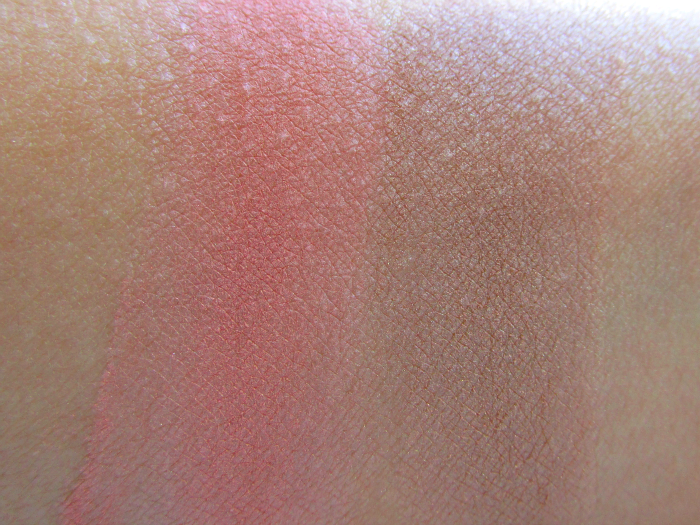 Swatches Mineralissima Blusher in Cheeky -  Mineralissima Bronzer in Choco