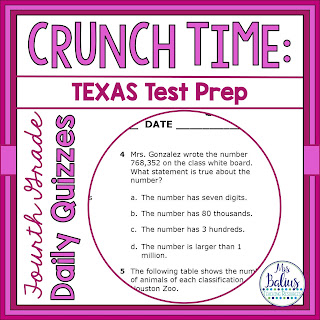 Crunch Time Quiz 4.2b
