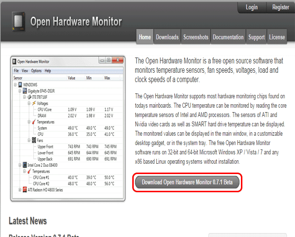 Open Hardware Monitor,Cara Cek Suhu Komponen PC atau Laptop