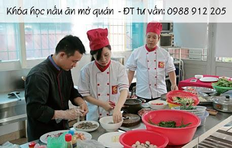Khóa học nấu ăn mở quán