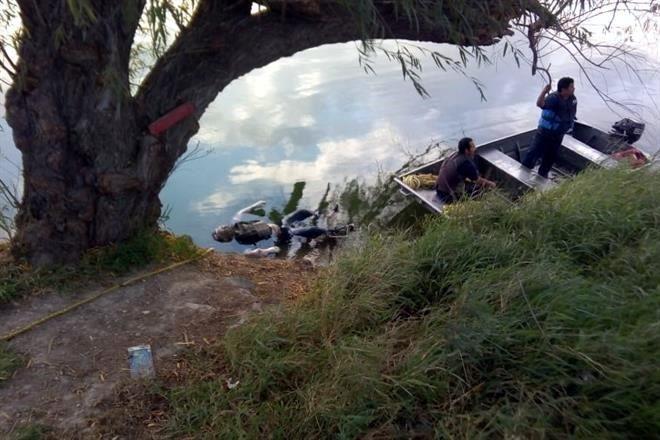 """CADÁVER FLOTANDO en CANAL de REYNOSA con """"CHALECO ANTIBALAS"""" PUESTO.. y heridas de bala. 7568504"""