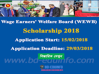 Wage Earners' Welfare Board (WEWB) Scholarship 2018