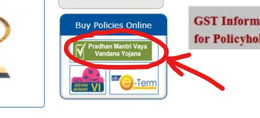 Pradhan Mantri Vaya Vandana Yojana Online Application Form thru licindia.In