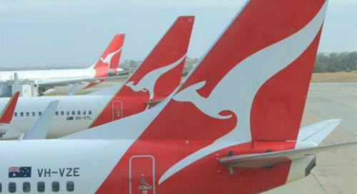Ilustrasi maskapai Australia, Qantas.(ist)