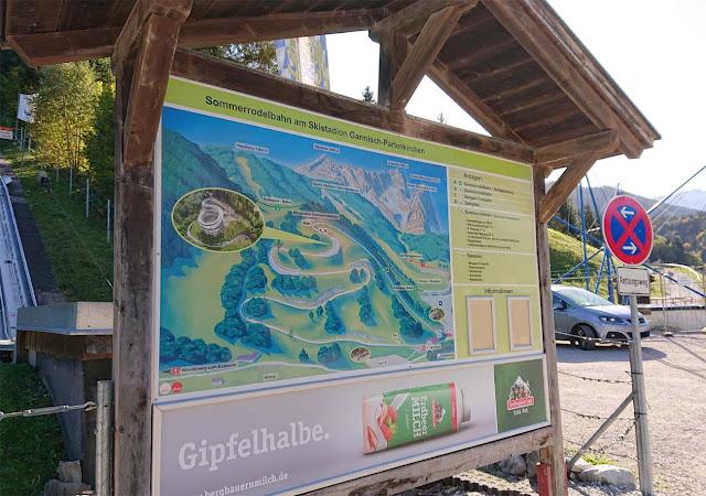 Sommerrodelbahn an der Eckbauer Bahn in Garmisch- Partenkirchen