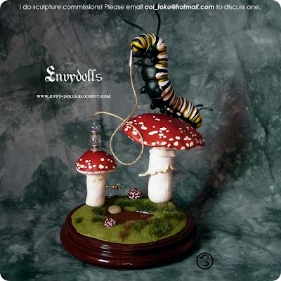 Alice in Wonderland Caterpillar statue