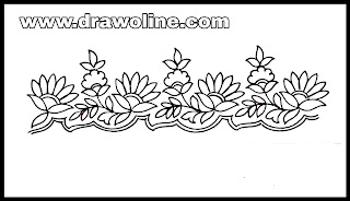 Free hand embroidery saree border design. Hand embroidery designs download free.  Sadi ka kinara drawings
