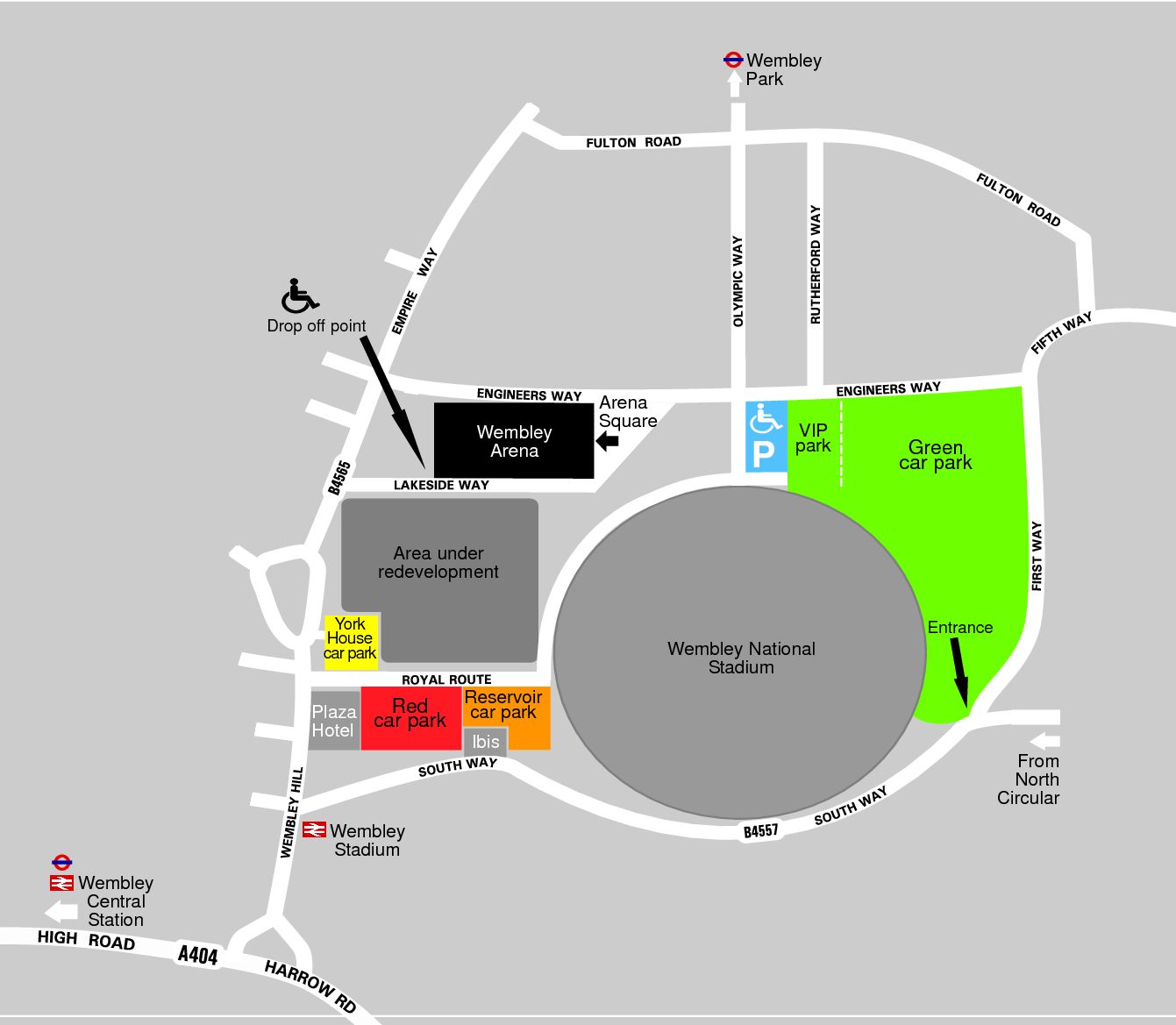 Wembley Stadium Green Car Park