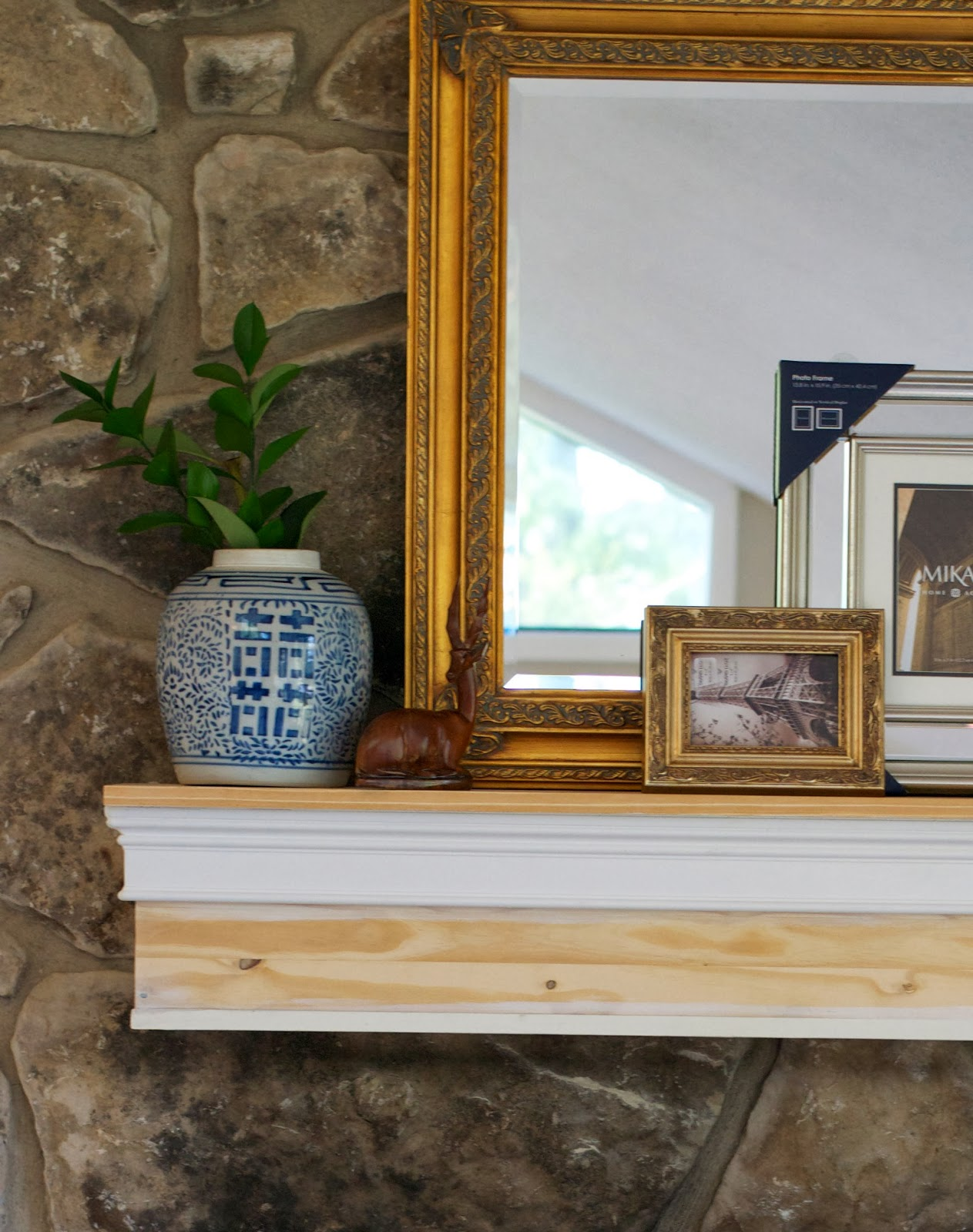 LiveLoveDIY: Faux Stacked Log Fireplace Tutorial
