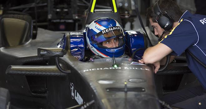 Renault Formula E team in testing mode