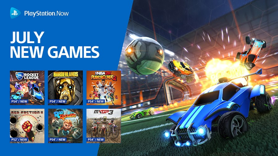 playstation now borderlands handsome collection rocket league ps4 lineup sony