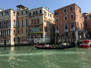 Venice Italy homes and gondola