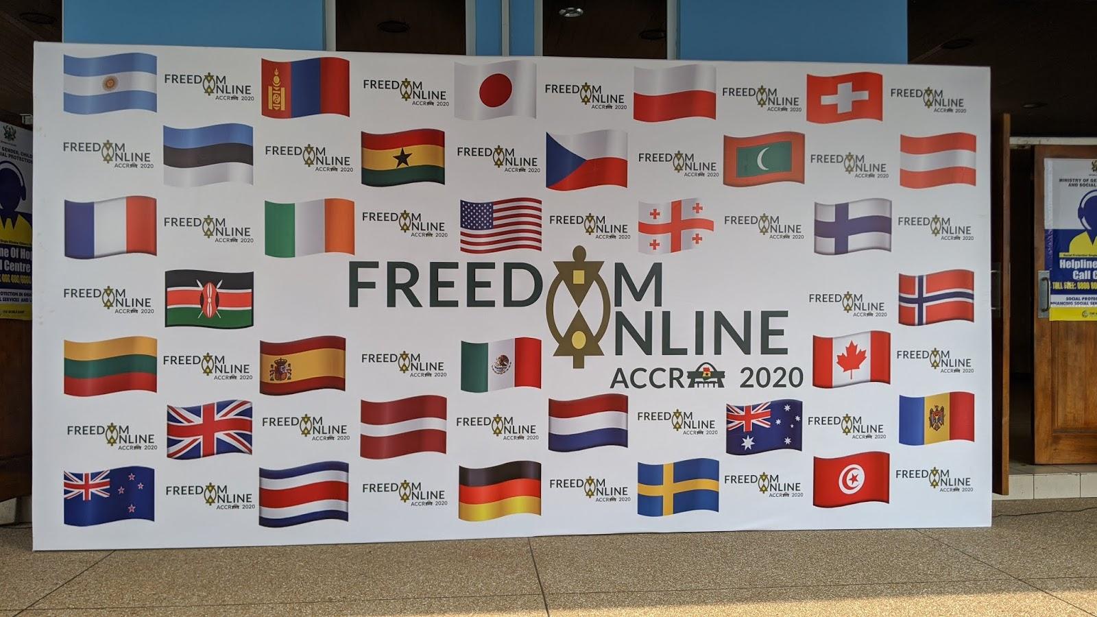 FOC 的31個成員國國旗