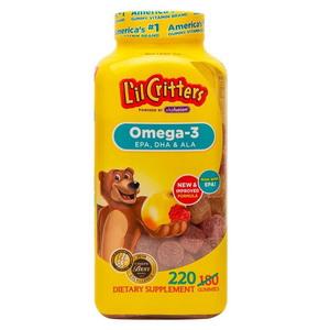 Kẹo dẻo gấu bổ sung Omega 3 DHA Vitamin tổng hợp cho bé Lil Critters của Mỹ