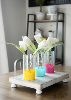 Paint Dipped flower vases