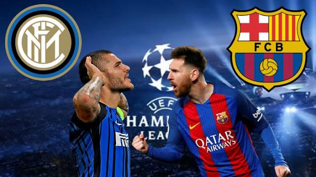 مباراة برشلونة وإنتر ميلان يلا شوت