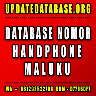 Jual Database Nomor Handphone Maluku
