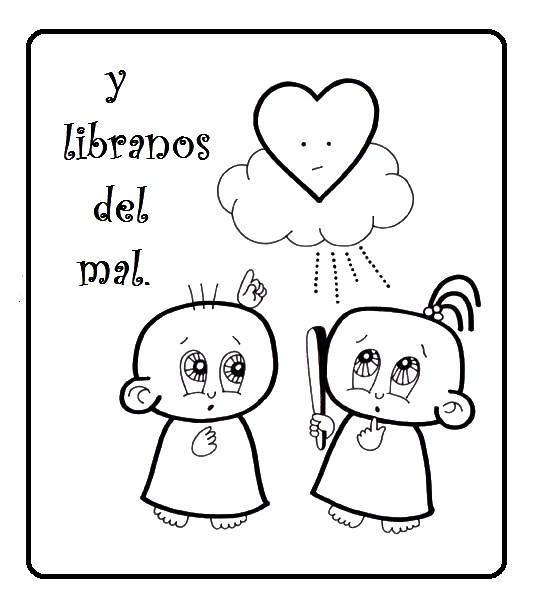 El Rincón de las Melli: El Padrenuestro con dibujos para