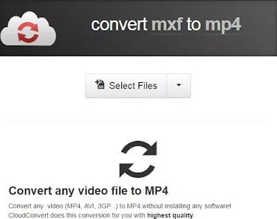 Cara mengubah MXF menjadi MP4-1