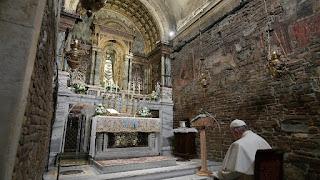 Papa Francesco nella Santa Casa di Loreto