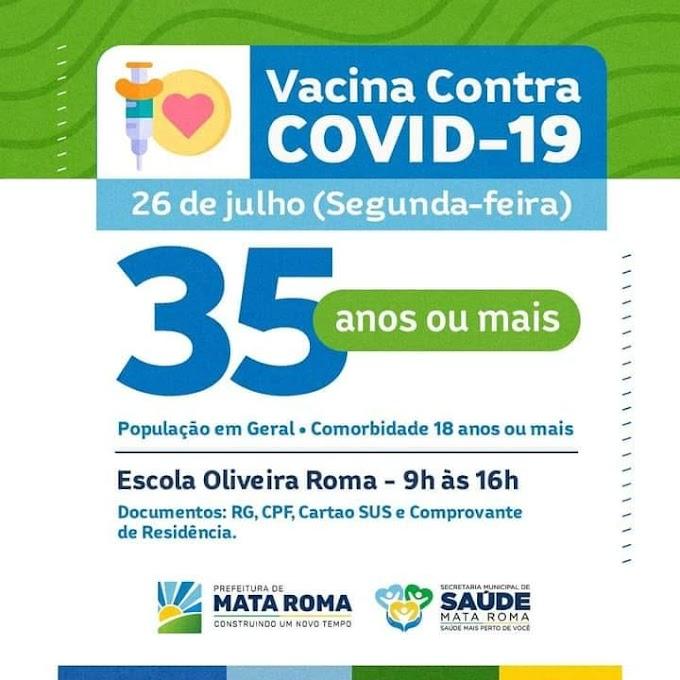 Prefeitura Municipal de Mata Roma através da Secretaria de Saúde Informa.