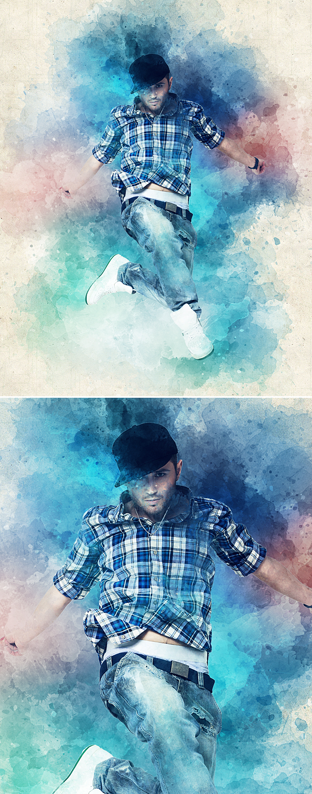 Watercolor Animation Photoshop Action - 4