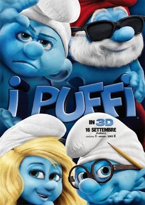 Włoski plakat do filmu Smerfy
