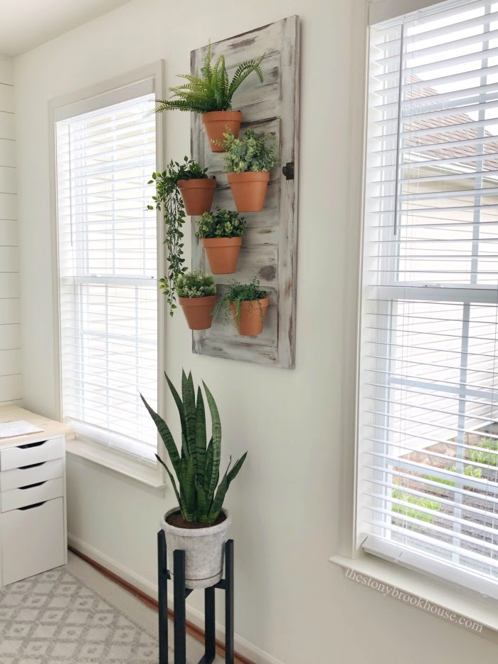 Office faux wood blinds