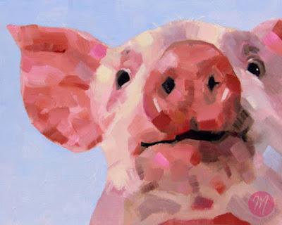 Bella-pig-painting-by-Merrill-Weber