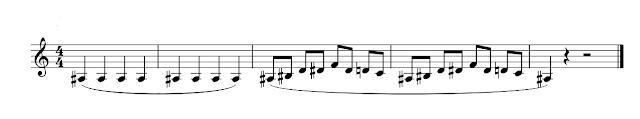 Partitura con legatos (o ligados)