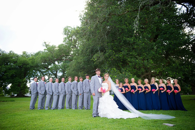 Navy And Coral Wedding Colors: Laissez Les Bons Temps Rouler... In Tennessee!: Our Wedding