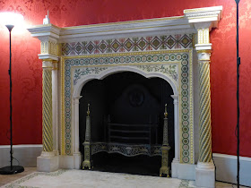 Robert Adam fireplace in Round Room  Strawberry Hill © A Knowles 2014
