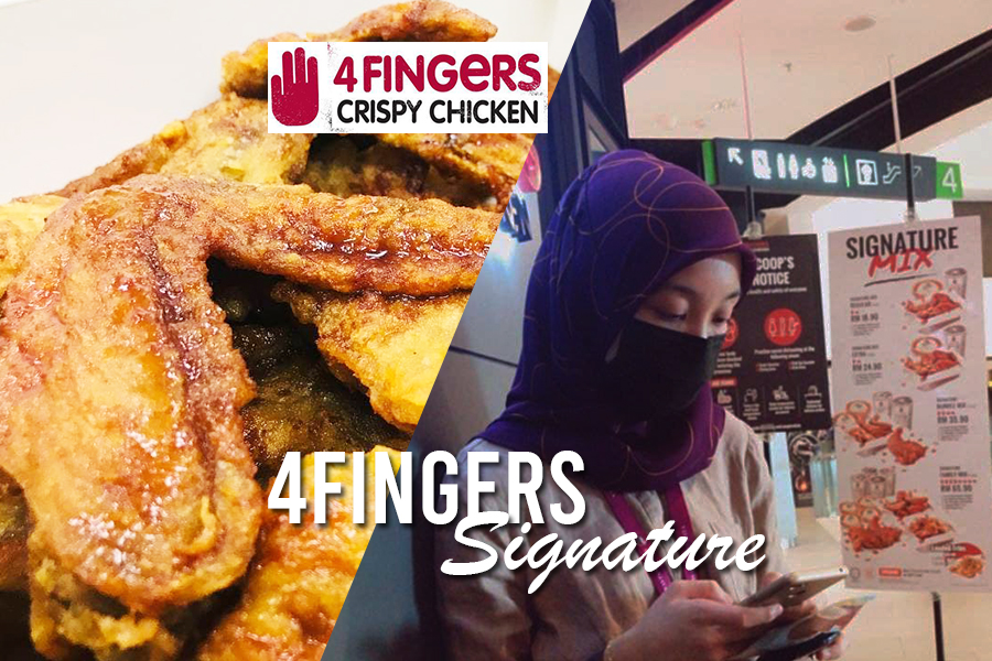 4Fingers Crispy Chicken Signature, flavor soy garlic and hot, 4fingers drummets and wings, cara order 4fingers, 4fingers sedap ke,