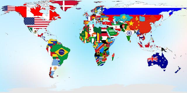 مساحة اكبر الدول في العالم بالكيلومتر المربع