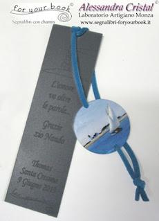 segnalibro elastico incisione personalizzata