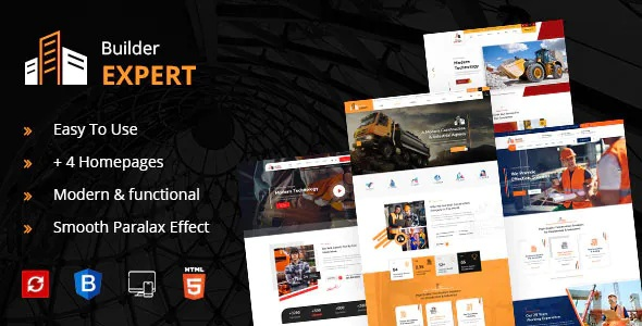 Best Construction and Architecture HTML Template