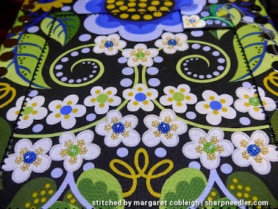 Completion of some of the white beaded flowers. (Wild Child Japanese Bead Embroidery by Mary Alice Sinton)