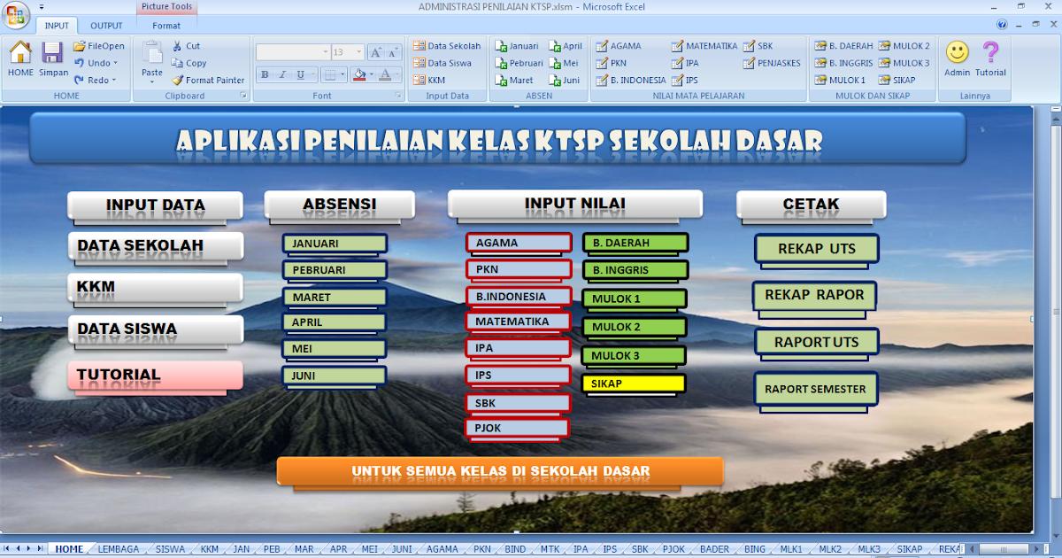 Download Aplikasi Raport Sekolah Dasar Sd Gratis File Terbaru