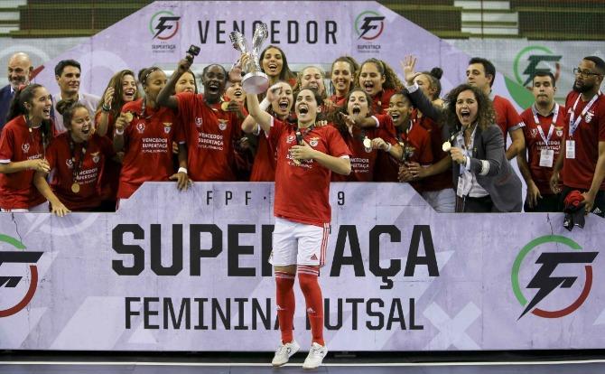 Benfica vencedor da Supertaça de Futsal Feminino 2019