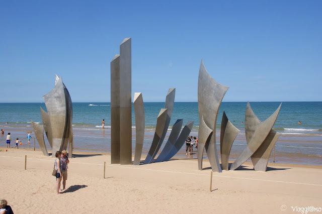 Il monumento omaggia i caduti di Omaha Beach