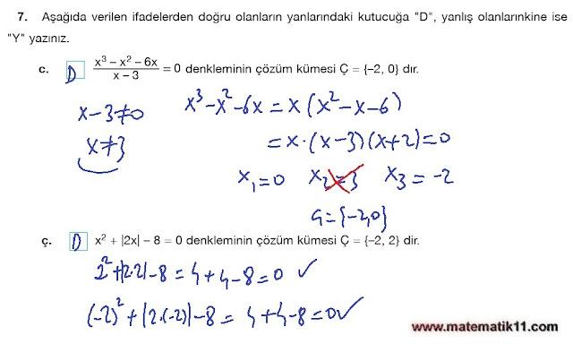 11. Sınıf Matematik Nova Yayınları Ders Kitabı 122. Sayfa İleri Düzey Çözümleri
