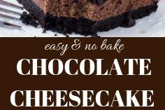 EASY NO BAKE CHOCOLATE CHEESECAKE