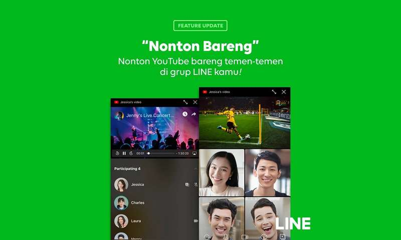 Nonton Bareng YouTube di Video Call Line (line.me)