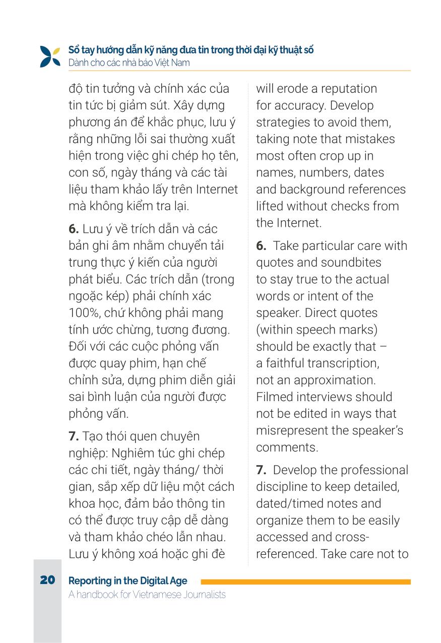 Sổ tay hướng dẫn đưa tin trong thời đại kỹ thuật số