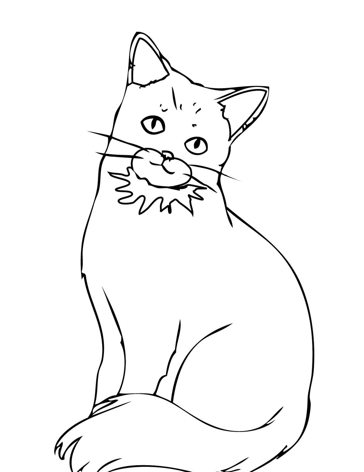 Cats coloring pages printable wallpaper hd muscle car for Coloring page cats