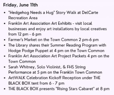 Escape to the Arts! Friday, June 11