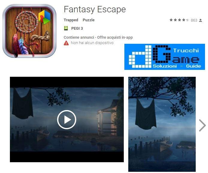 Soluzioni Fantasy Escape livello 11 12 13 14 15 16 17 18 19 20 | Trucchi e Walkthrough level