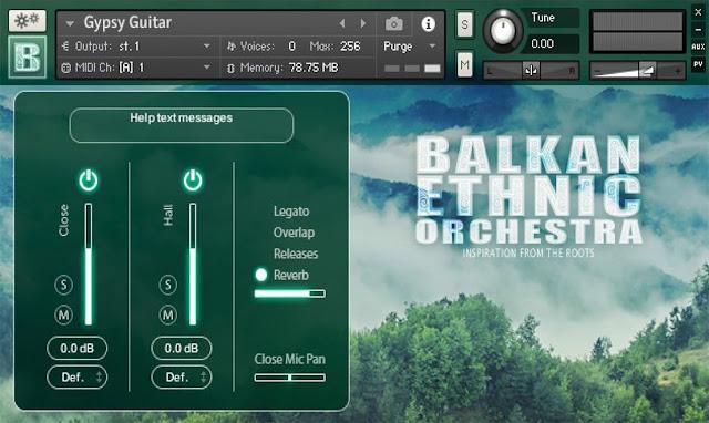 Interface da Library Strezov Sampling - BALKAN Ethnic Orchestra (KONTAKT)