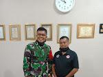 Pengurus FPII Korwil Sidrap Silaturahmi Dengan Dandim 1420 Sidrap