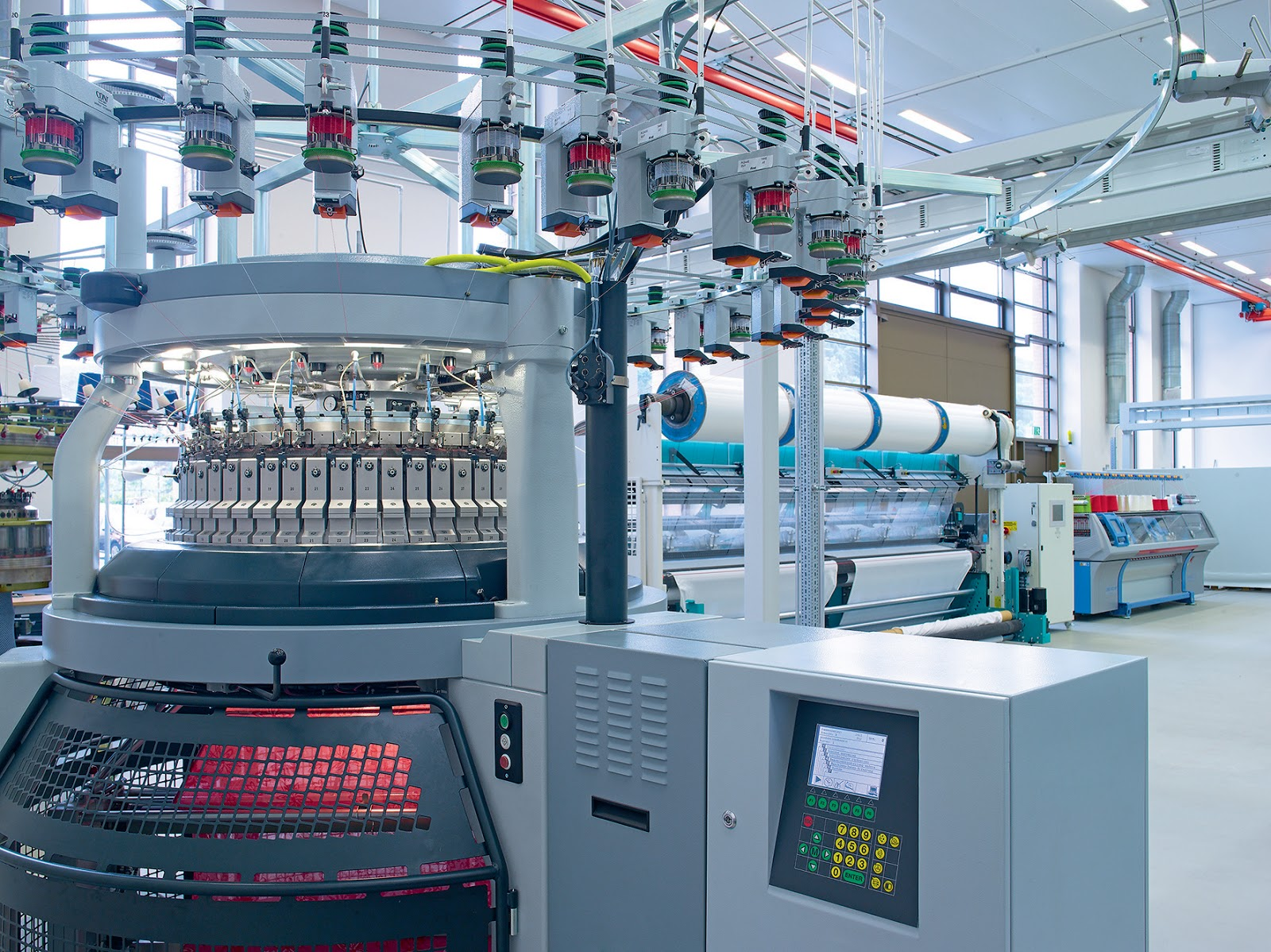 The major developments in the field of textile printing